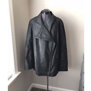 NWT Marc New York Andrew Marc Faux Black Leather